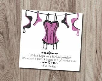 Lingerie Shower Insert DIY Printable