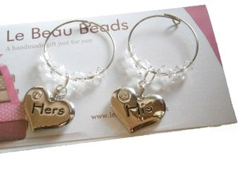 His and Hers Wine Glass Charms