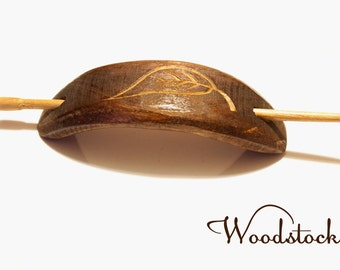 Handmade wooden barretes, wooden hair accessories, hair clip, wood carving