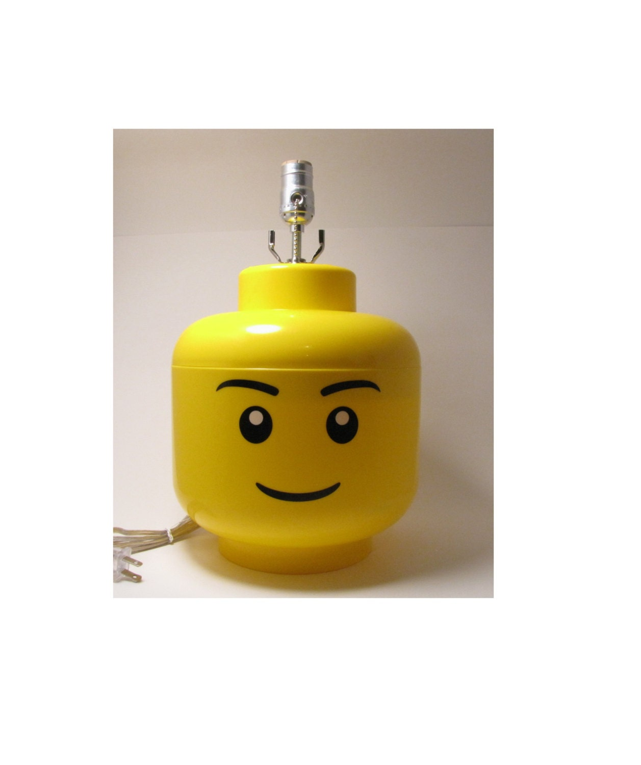 Lego Decorations For Bedroom Large Male Lego Minifigure Head Lamp Perfect Lego Themed