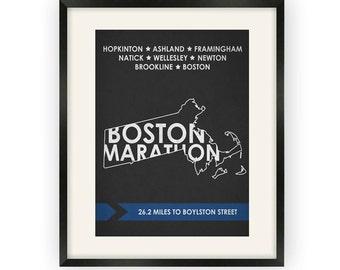Boston Marathon State Print