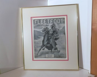 Music cover framed, Cobb, George L. Fleetfoot March. Buffalo, NY: H.C. Weasner & Co., 1906.
