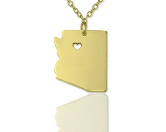 Arizona necklace , Az state necklace ,Map necklace