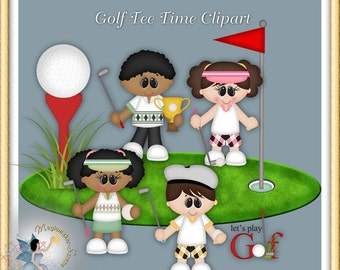 Golf Clipart, Tee Time Sports