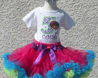Doc McStuffins Pettiskirt -Personalized Birthday Pettiskirt,Sizes 6m - 14/16