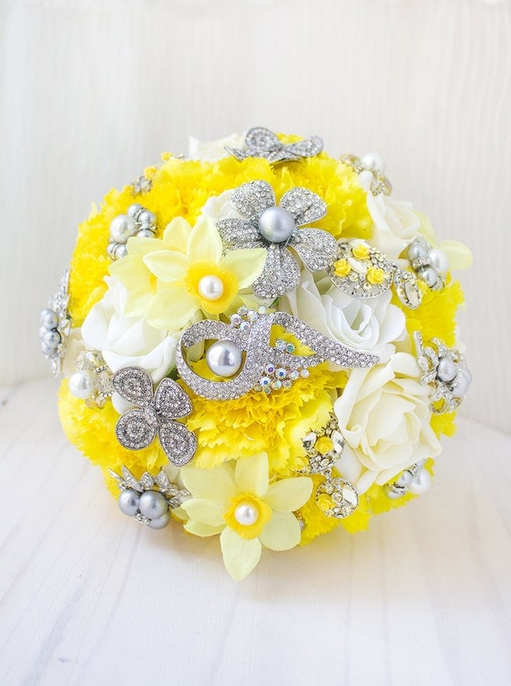 yellow and grey wedding bouquet mariage jaune et gris jaune et gris de mariage bouquet mari 233 e 1507