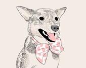 Custom PET Portrait, drawn digitally, unique gift for birthday,… !
