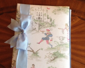 Nursery Rhyme Character Photo Album with Blue Ribbon