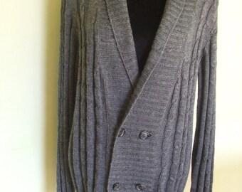 knitted Wool Sweater jacket men