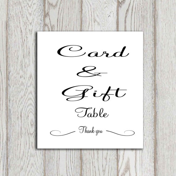 and gift table print Wedding gift table sign Bridal shower gift table ...