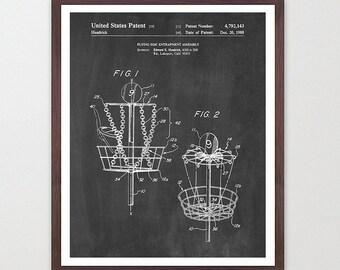 Disc Golf Poster - Disc Golf Basket - Patent Print - Frisbee Golf - Frisbee Poster - Patent Art - Frisbee Art - Frisbee Patent - Disc Golf