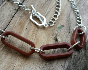 Necklace - Caramel Lucite Link