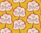 Utopia by Frances Newcombe for Art Gallery Fabrics - Aglow Sapling Mango - Yardage (1/4 Yard Minimum)