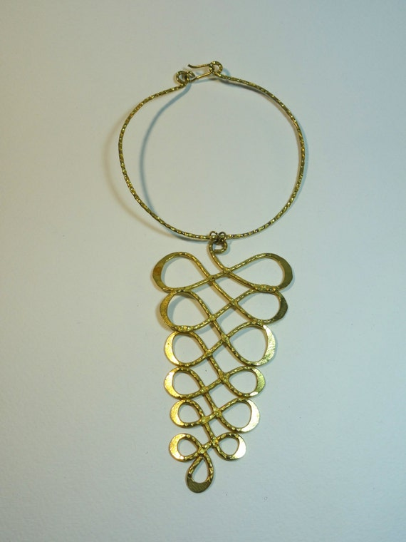 Vintage infinity loop gold plated choker