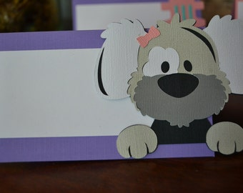 Dog Birthday Party Food Tents, Puppy Birthday Party Food Tents, Dog Place Cards