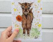 "Greeting Card - ""Goat"""