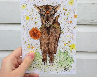 "Greeting Card - ""Goat"""