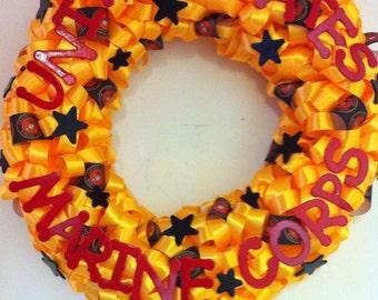 Handmade Marine Corps Wreath