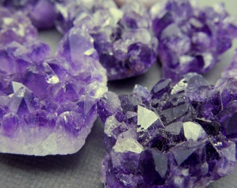 Amethyst Cluster Wholesale - Natural Raw Purple Amethyst Cluster - BUlk Lot of 5 - (RK4B2-09)