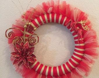 Christmas tulle wreath