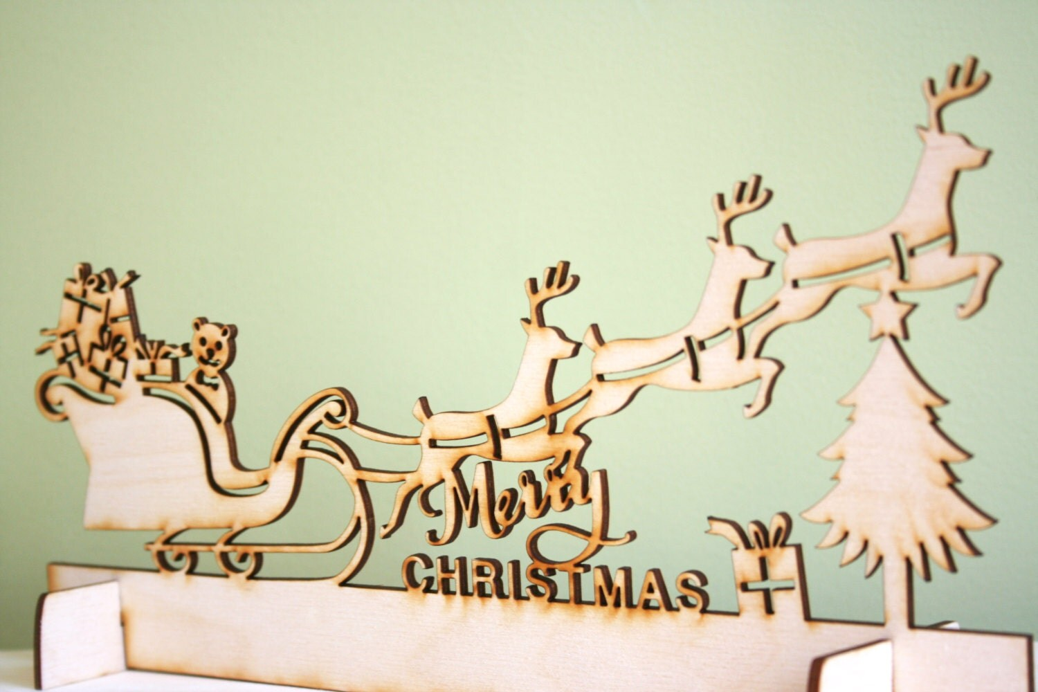 #9E662D Wood Christmas Sleigh Decoration Laser Cut Rustic With 5779 Laser Deco Noel Exterieur Gifi 1500x1000 px @ aertt.com