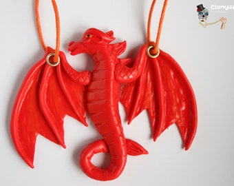 Necklace Red Dragon.