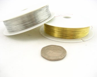 150meters of 0.3mm silver gold PLATED Beading WIRE jewellery wire DIY wire
