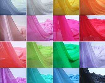 75D Multi Chiffon Fabric by the Yard, Chiffon Fabric, Wedding Chiffon, Light weight Chiffon Fabric,blush pink chiffon