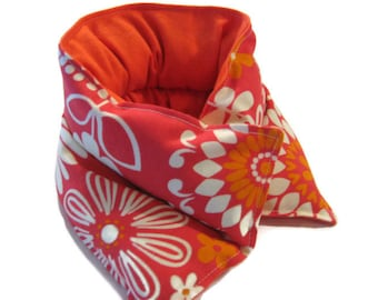 Heating Pad Neck Shoulder  for Comfort Relaxation Heating Pad Microwave Great Coverage FlowerPower Orange