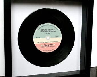 Will You Marry Me?, Personalised Proposal, Engagement, Anniversary, Vinyl Record Frame