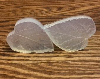 Food Safe Silicone Rubber Organic Hibiscus Leaf Veiner-Silicone Mold