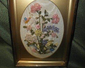 Floral Quiling Art in Frame Handmade