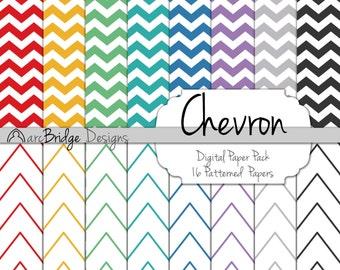 Chevron Digital Paper Pack {Digital Download}