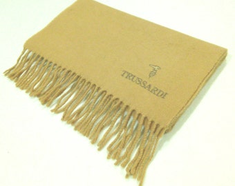 Trussardi Lambswool Scarf Neck Wrap Made In Italy