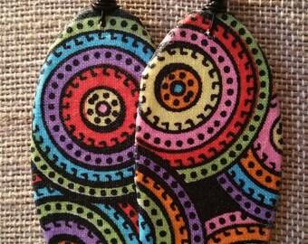 Fabricearrings,handcraftedearrings,fashion