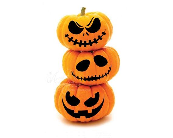 Printable Halloween Pumpkin Carving Pattern Stencil PDF Scary