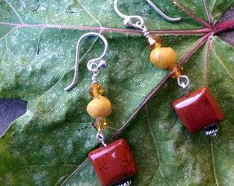 Lovely handmade beaded dangle earrings