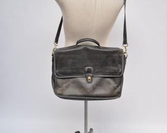 vintage leather COACH messenger bag briefcase DISTRESSED laptop satchel attache