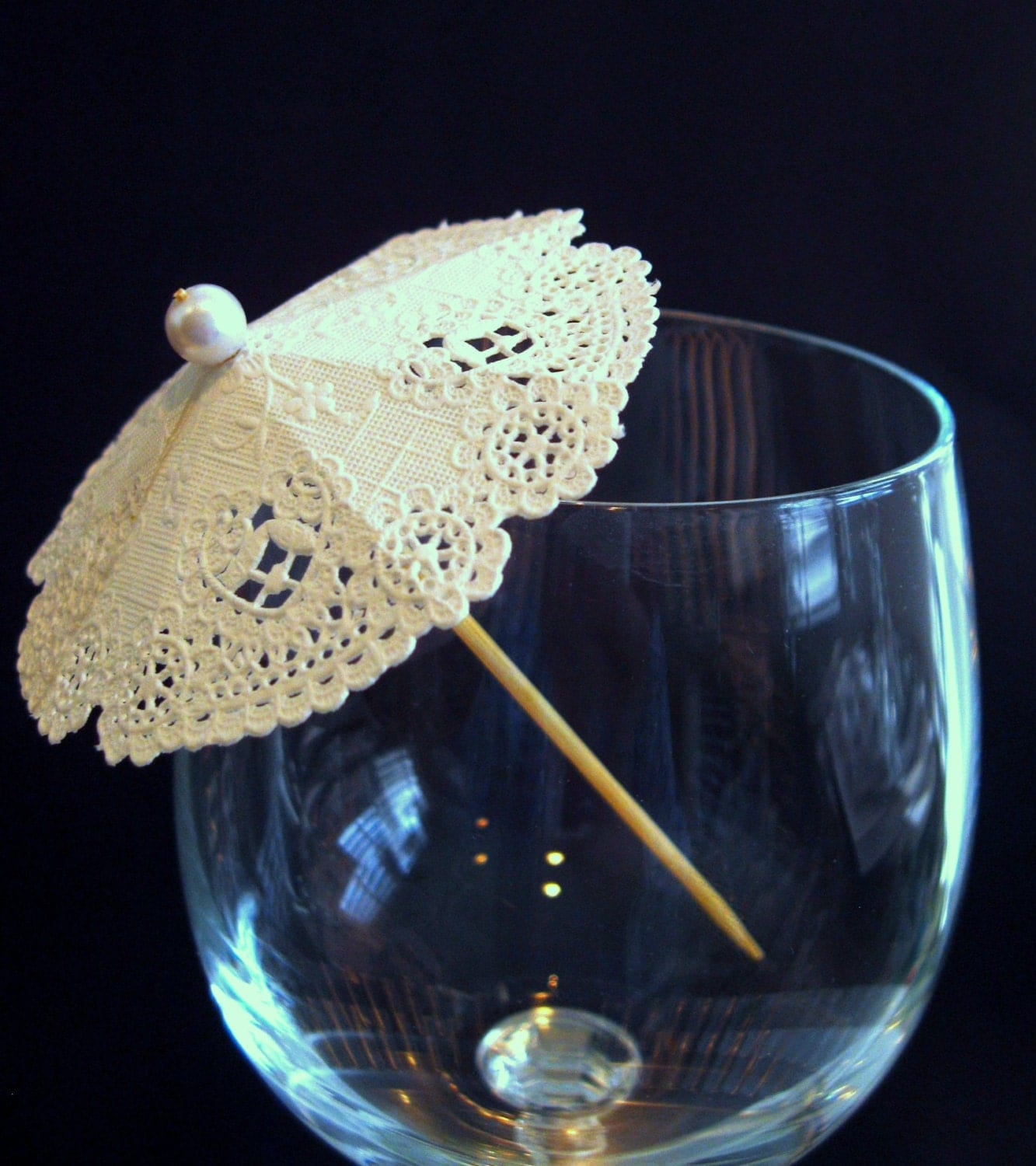 Cocktail Umbrellas Drink Parasol 25 Doily Mini By