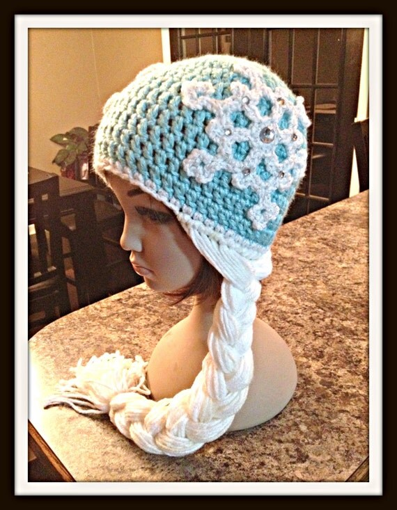 Items similar to Crochet Frozen Elsa Hat with Braid on Etsy