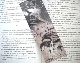 Bookmark werewolf black winged Moon