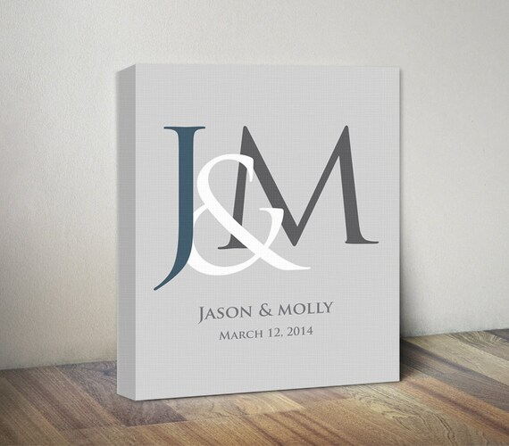Personalised Wedding Gift Canvas : ... Gift, Love Canvas Print Sign, Couples Wall Art, Custom Canvas