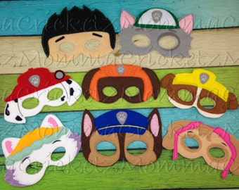 Paw Pups Mask Characters