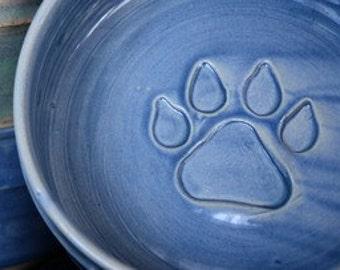 Medium dog bowl - Alfred Blue glaze