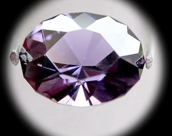 Purplish Spinal | 1.31ct | Precision Cut | This special oval cutting design gives fiery type luster  and unusual spark.
