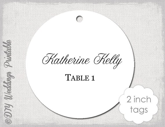 Wedding Favor Tags Template Calligraphy