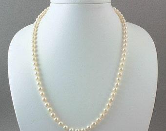 Brides Pearls, Akoya Pearls,Genuine Brides Pearl Necklace,Akoya Pearl Necklace,Akoya Hand Knotted Necklace,Wedding Jewelry