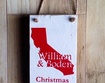 Personalized State Ornament