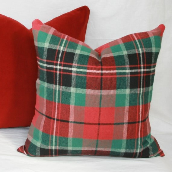 Decorative Plaid Pillows : Custom order for Emily by JoyWorkshoppe on Etsy
