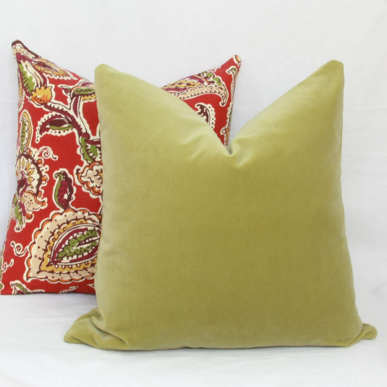 Sage Green Decorative Pillow : Sage green velvet decorative throw pillow cover. by JoyWorkshoppe
